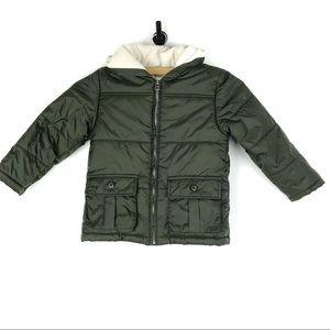 GYMBOREE Winter Jacket 4t 5T Fleece Lined Green o2